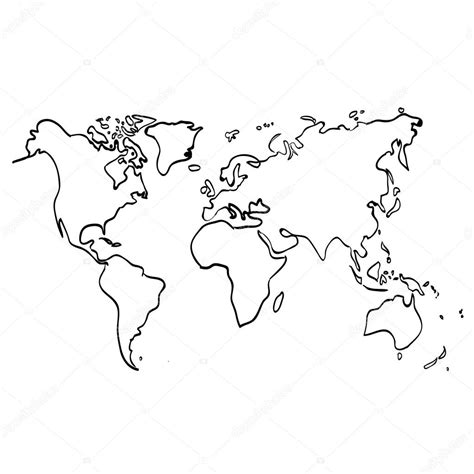 Mapa Mundo Blanco Mapa