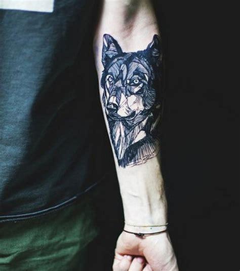 tatouage loup viking cochese tattoo
