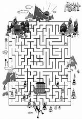 Smallfoot Coloring Maze Yeti Printables Pages Cute Getcoloringpages Word Message Hidden Activity sketch template