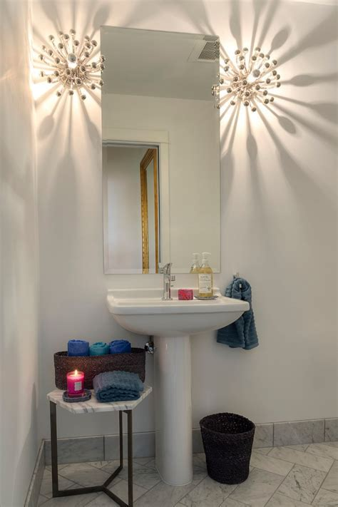 Bathroom Wastebasket Powder Room Contemporary with