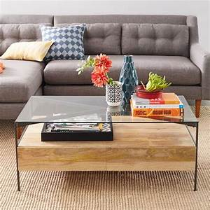 west elm glass coffee table writehookstudiocom With industrial storage coffee table west elm