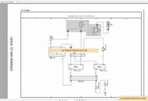 Lexus Ct200h 2015-2017 Electrical Wiring Diagram
