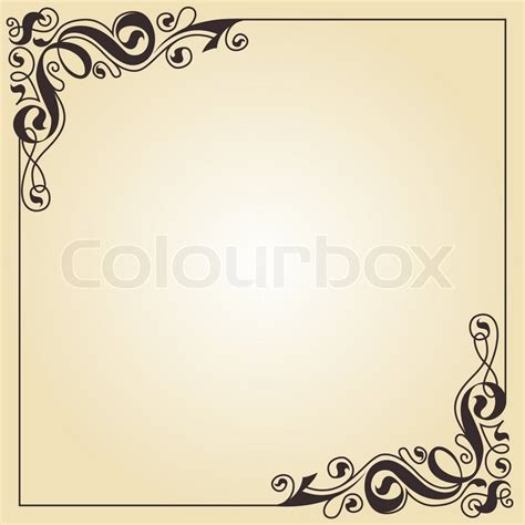calligraphy ornament frame stock vector colourbox