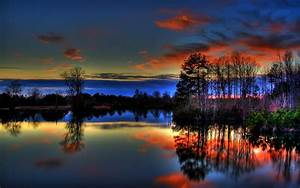 Paulk Lake Sunset Reflections 3D #Desktop #Wallpaper ~ # ...