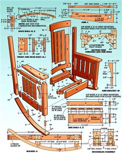 morris rocking chair plans pdf furnitureplans