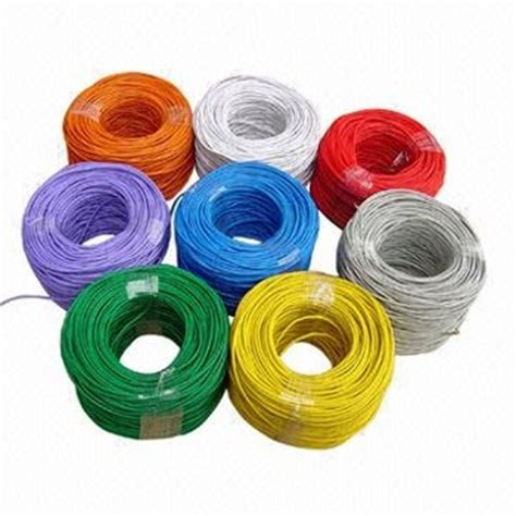 Thin Electrical Wire Colors Black Grey Blue Brown Yellow