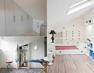 Vorhang Für Dachschräge : begehbarer kleiderschrank unter dachschr ge ideen und planungstipps ~ Markanthonyermac.com Haus und Dekorationen
