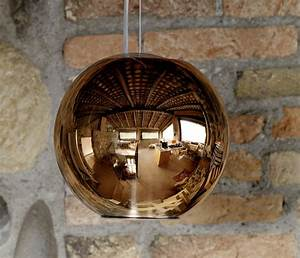 Suspension Filaire Cuivre : suspension globo di luce cuivre 30cm fontana arte luminaires nedgis ~ Teatrodelosmanantiales.com Idées de Décoration