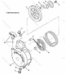 Polaris Atv 2005 Oem Parts Diagram For Recoil Starter   Ab