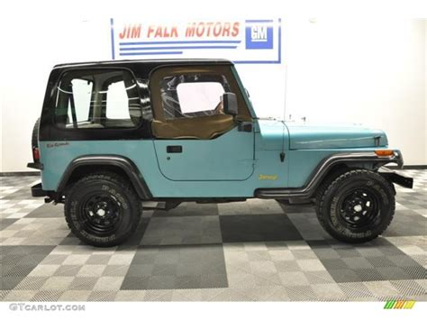 white and teal jeep 1995 teal pearl jeep wrangler s 4x4 62758206 photo 26