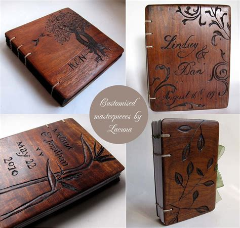 Wooden Book wooden book covers by lacuna works diy idea wood book
