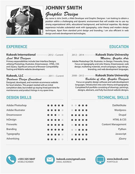 Free Editable Creative Resume Templates Word by Cool Cv Template In Grey Blue On Behance