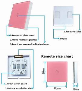 2 Gang 2 Way Touch Push Button Light Switch Led Indicator