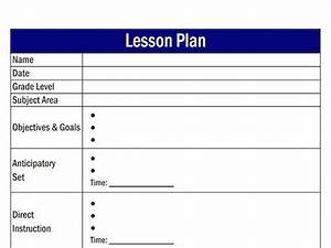 what is a lesson plan template lesson plan templates With how to make a lesson plan template in word
