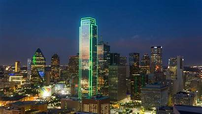 Dallas Texas Night Downtown Buildings Cities Architecture