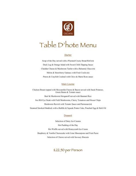 Restaurant Table Menu by Table D Hote 4 Restaurant Menu Formats In 2019 Menu