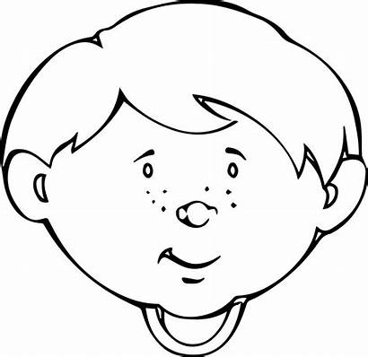 Coloring Wajah Sketsa Smiley Face Faces Gambar