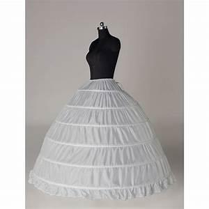 white 6 hoop wedding bridal dress ball gown crinoline With wedding dress hoop skirt