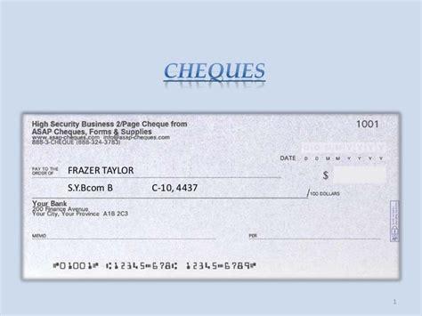 Cheques (sem 4)