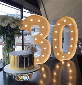 turning 30 go big light up letter co With huge light up letters