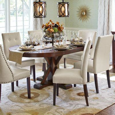 mason ivory dining chair  espresso wood dining