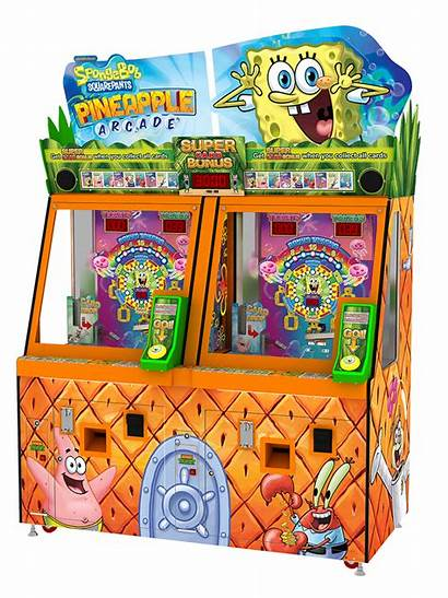 Spongebob Pineapple Arcade Cards Cabinet Transparent Squarepants