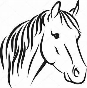 Pferdekopf Schwarz Weiß : uzun yele ile at stok vekt r pony rider 54242423 ~ Watch28wear.com Haus und Dekorationen