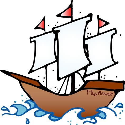 Cartoon Mayflower Boat by Boat Clipart Thanksgiving Pencil And In Color Boat