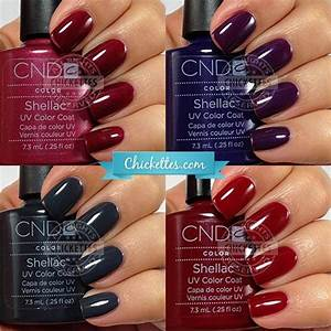 Cnd Shellac Swatches Winter Colors Shellac Nail Colors