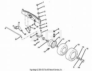Poulan Pp1236a Tractor Parts Diagram For Front Axle