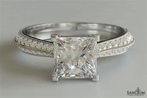 princess cut engagement ring knife edge new zealand