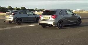 Mercedes Gap : mercedes amg a45 drag races civic type r to reveal huge performance gap autoevolution ~ Gottalentnigeria.com Avis de Voitures