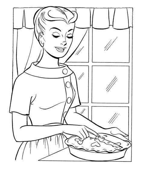 thanksgiving dinner coloring page sheets moms