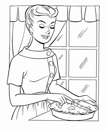 Coloring Pages Mom Prayer Thanksgiving Dinner Mother