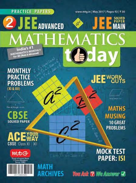 Mathematics Today — May 2017 PDF download free