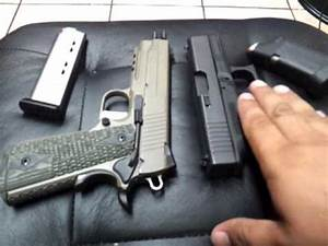 Sig 1911 & glock 30 not a vs vid - YouTube