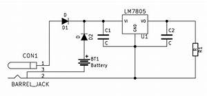 Power Supply - Dc Barrel   Battery Schematic