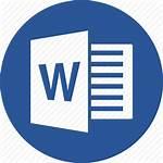 Word Microsoft Icon Document Doc Docx Circle