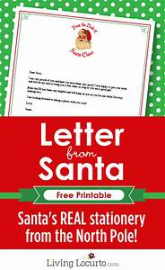 letter from santa free printable santa stationery With free santa letters from north pole uk
