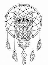 Coloring Owls Simple Pages Animals sketch template