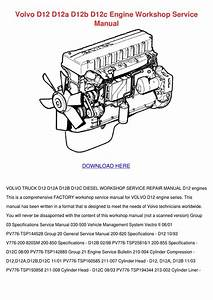 Volvo D12 D12a D12b D12c Engine Workshop Serv By
