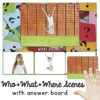 scenes wh questions forming sentences