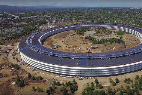 Apples Headquarters New Pictures by New Apple Park Drone Footage Shows Headquarters