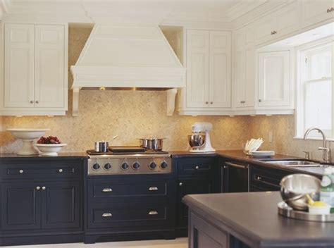 kitchens with different colored cabinets different color and lower cabinets kitchens 8788