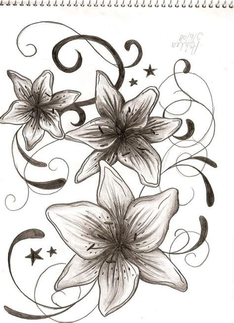 lily  stars tattoos ideas