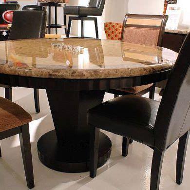 classy  glossy granite stone dining table set stone
