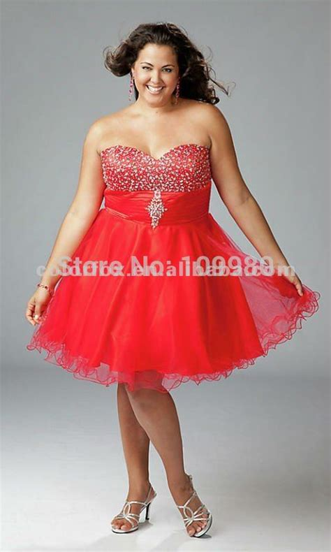 Red Beaded Sweetheart Full Figure Ruffled Tulle Corset