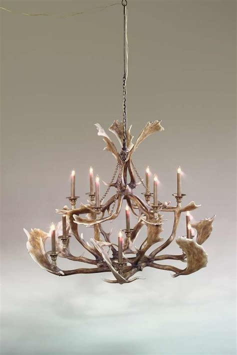 faux fallow deer antler chandelier products i