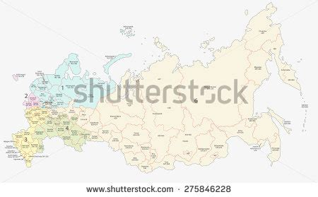 Moscow Russia Zip Code by Russian Postcodes Map Stock Vector