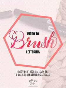 intro to brush lettering basic strokes hello brio studio With learn brush lettering